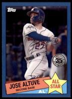 2020 Topps Series 2 1985 All Stars Blue #85AS-25 Jose Altuve - Houston Astros