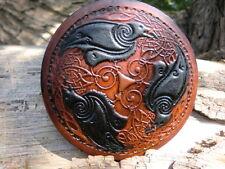 Viking Nordic Ravens Custom sew-on Leather Patch