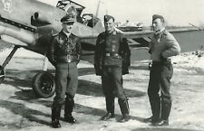WW2 Photo WWII Luftwaffe Bf 109 Pilots of Jg54  1942 Me 109 World War Two / 2538