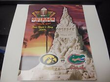2004 OUTBACK BOWL IOWA HAWKEYES VS FLORIDA GATORS FOOTBALL PROGRAM NCAA RARE