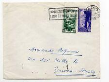 STORIA POSTALE 1952 REPUBBLICA LIRE 10+20 SU LETTERA ROMA 4/1 D/8437