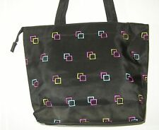 alfa travelgear ~ nylon tote / book bag / baby / shopper ~ black w/ embroidery