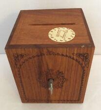 "1978 Toystalgia Wooden Music Bank Box~Plays ""Somewhere My Love"""