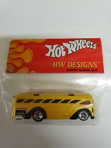 Hot Wheels HW Designs Surfin' School Bus RARE