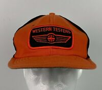 Vintage Size A Just Western Testers Trucker Hat Snapback Cap Patch USA Made!
