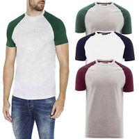 Brave Soul Mens Baptist Designer Crew Neck T-Shirt Cotton Rich Raglan Sleeve Top