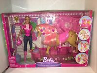 Rare Rare Barbie Shower and Show Horse Playset by Mattel  P7525 NEW