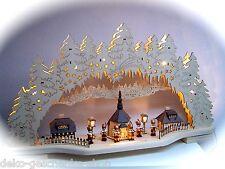 3d LED ARCOS DE LUCES arbotantes Seiffen Iglesia 6 bergleute BERGMANN 78cm 10159