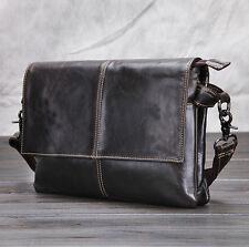 Men Genuine Leather Messenger Bag Shoulder Cross Body Business Cases Briefcase