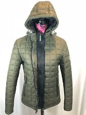 The Original Superdry Fuji Mountain Women's Hooded Quilted Jacket Size S