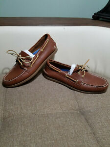 Sperry Top-Sider Mens Boat Shoes Leather  2-eye Authentic