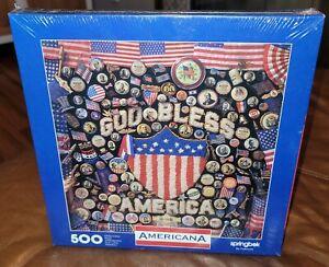 Brand New Sealed Springbok by Hallmark 500 Piece Americana Jigsaw Puzzle