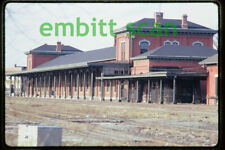 Original Slide, PC Penn Central Jackson MI Michigan Station Depot, 1972