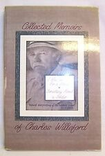 Charles Willeford THE COLLECTED MEMOIRS First Edition thus Autobiographical Book