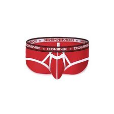 Dominik Cotton Brief Underwear, Mens, 9 Colors X-Large Fiery Red