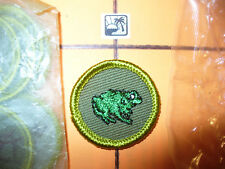 Zoology,FROG,Boy Scout Twill Merit Badge,BSA,1959-1971,MINT,Out Of ORIGINAL Bags