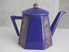 Rare Antique French Enameled TEA POT dating early 1900 - AUBECQ manufactured