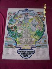EASTERN Presents THE MAGIC KINGDOM D-WORLD Vintage 1983 Travel poster 30x40 map