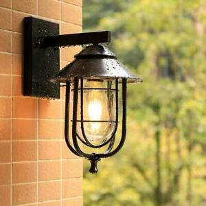 Outdoor Waterproof Wall Sonce Warehouse Birdcage Glass Wall Lamp Lighting