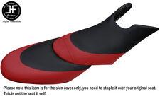 BLACK D RED CUSTOM FITS SEADOO 02-06 GTX DI 4-TEC FRONT + REAR VINYL SEAT COVERS