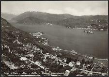 AD4489 Lago d'Orta (NO) - Alzo - Pella - Visione panoramica - Cartolina postale