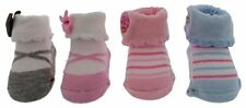 Baby Girls Ballerina Bootie Socks (4 pr), Size 0-6 Months, Gift Packaged