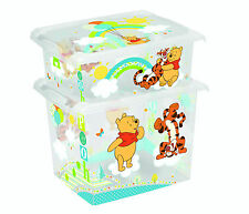 Set of Two Fashion Box Disney Winnie the Pooh 20L +10L Storage Box Toy Box