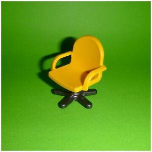 Playmobil - Büro Arbeitszimmer - Stuhl Drehstuhl - gelb