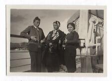 PHOTO Caméra Appareil Photographe Photographié Autoportrait Vers 1930 Bateau