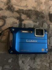 Panasonic LUMIX DMC-TS4 12.1MP Waterproof & Shockproof Digital Camera blue used