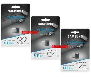 Samsung Fit Plus 32GB 64GB 128GB 256GB USB Flash Drive USB3.1 Up to 300MB/s AB