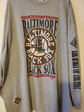 Vintage Rare Baltimore Black Sox Negro Leagues Baseball shirt sz 3XL gray