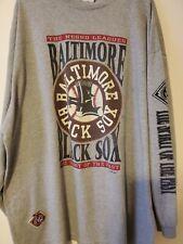 Vintage Rare Baltimore Black Sox Negro Leagues Baseball shirt sz 3XL gray