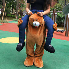 Cosplay Carry Teddy Bear Mascot Costume Ride On Piggy Back Adults Dress Suits