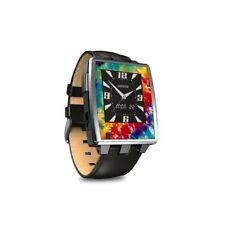 Skin for Pebble Steel Smart Watch - Tie Dyed - Sticker Decal