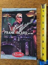 Frank Beard ZZ Top Signed Photo 6x8 original