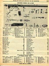 1962 Print Ad of Mossberg Model 352 352K Rifle Parts List