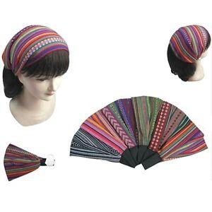 6 PCS Baja Boho Wide Stretch Women Headband Headwrap Turban Headwear Hair Band
