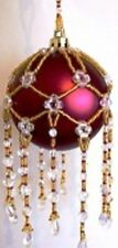 X736 Bead Pattern Only Beaded Cluster Christmas Ornament Cover Pattern