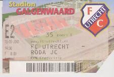 Sammler Used Ticket / Entrada FC Utrecht v Roda JC Kerkrade 16-09-2001