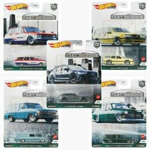 Hot wheels 1:64 Car Culture Fast Wagons Set of 5 FPY86-957B Nissan Audi Chevy
