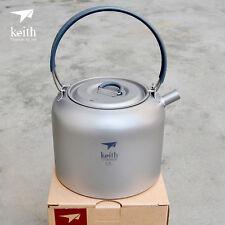 1.5L/200g Kettle Titanium Water Coffee Pot Teapot Camp Picnic Cooking Cookware