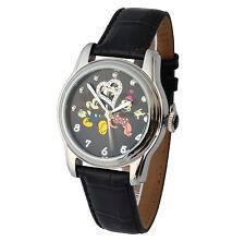 Walt Disney Automatikuhr Edelstahl 3ATM Mickey & Minnie Mouse Swarovski-Steine