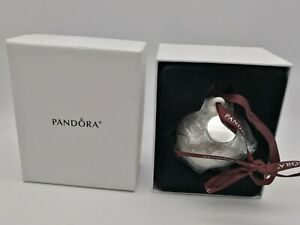 Pandora Limited Edition 2018 Christmas Holiday Porcelain Ornament With Gift Box
