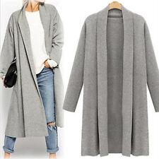 Plus Size Women's Trench Coat Long Cloak Jackets Overcoat Waterfall Cardigan AU