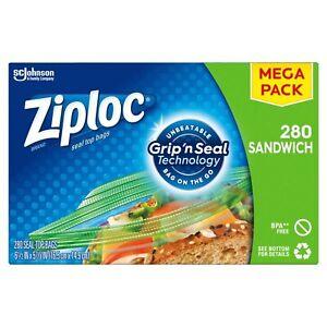 Ziploc Sandwich Bags | Easy Open Tabs | 280 Count