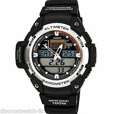 Casio SGW400H-1B Mens Sports Gear Twin Sensor Watch Altimeter Barometer 5 Alarms