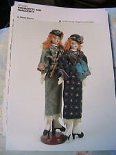 BERNADETTE & MARGUERITE~M Gourley~WHIMSICAL cloth art doll pattern *RARE & OOP