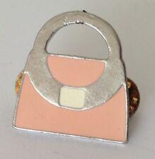 Take 5 Magazine Pink Handbag Pin Badge Rare Vintage (J1)