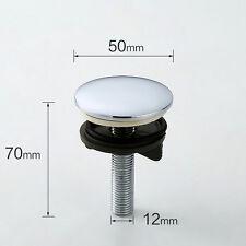 Latón cromo fregadero grifo de supresión agujero Cubierta Tapón De Placa De Metal Enchufe 50mm